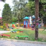 Un angolo del giardino della Scuola dell'Infanzia
